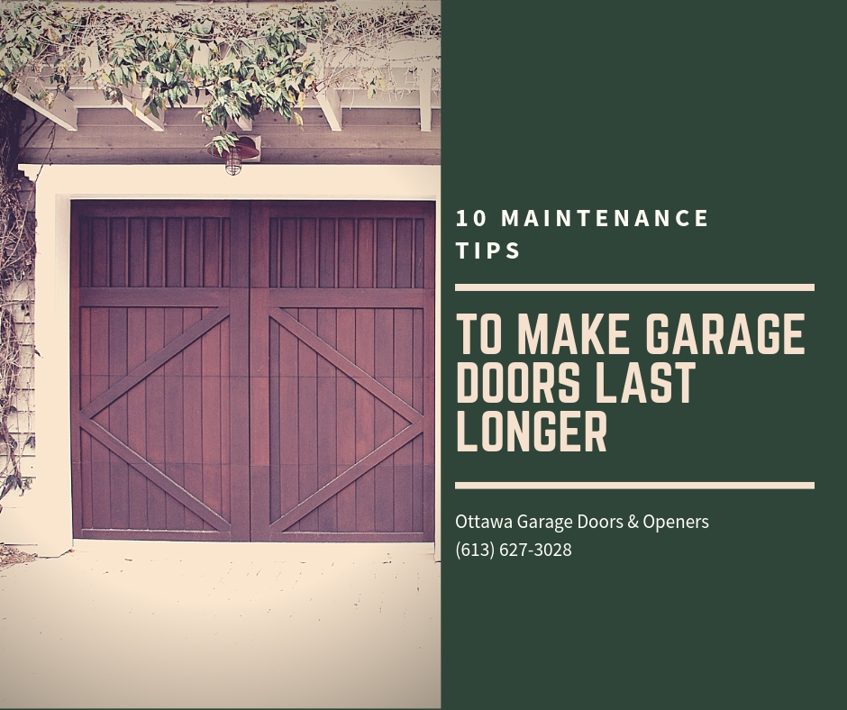 10 Maintenance Tips To Make Garage Doors Last Longer