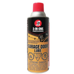 Lubricate your garage door parts